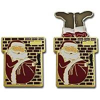 OAK Weihnachten Geocoin Santa Up on The Housetop Coin - Gold geocoin Geocaching Weihnachts Geschenk Geocaching weihnachtensanta geocoin