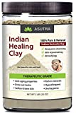 (Value Size 2lbs) 100% Pure Sodium Bentonite Indian Healing Clay, THERAPEUTIC GRADE, Natural & Safe, Revitalize Skin & Hair, Combat Acne, Clay Face Mask, Deep Pore Cleansing