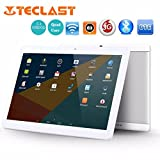 Teclast X10[10.1Inches IPS Screen] Tablet PC HD Touchscreen Mic WIFI [ Android 6.0 1+16G] Octa Core Dual WIFI SIM Tablet PC ,Support Games, Skype ,MSN ,Facebook, Twitter, etc (White)