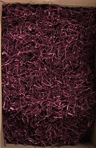 Black Cat Avenue 1 LB Burgundy Crinkle Cut Paper Shred Filler For Gift Wrap and Basket Filler by Black Cat Avenue