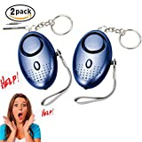 Safe Sound Personal Alarm Keychain With LED Flashlight Emergency Alarms Portable Safety and Self Defense for Women, Elderly, Kids, Students 2 Pack