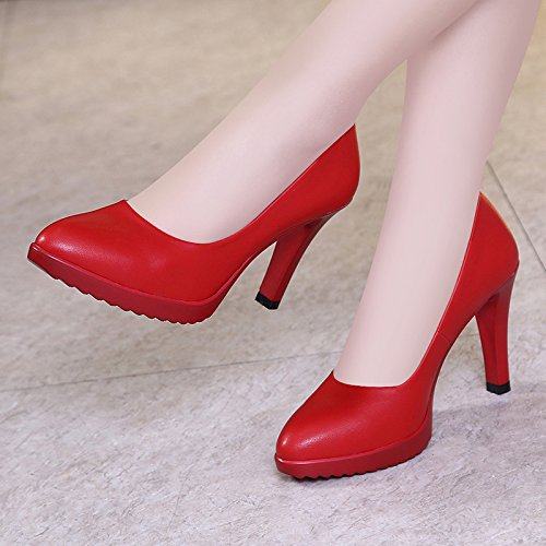 Jqdyl High Heels Große Damenschuhe der Frauen Cheongsam Cheongsam Cheongsam Catwalk weibliches feines mit wies einzelne Schuhe Flacher Mund wild 5a88ee
