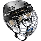 Bauer 4500 Ice Hockey Helmet with Cage - White Small