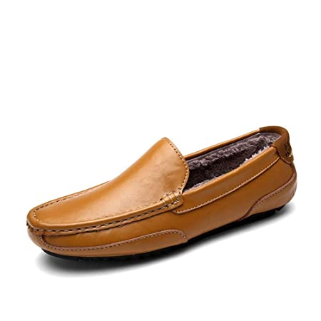 Bokun Men Casual Driving Shoes Men Genuine Leather Loafers Men Shoes Flats Shoes