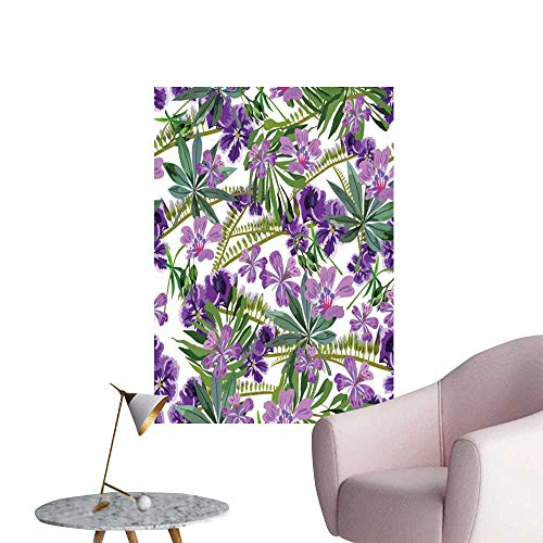 SeptSonne Wall Art Prints backgroun Tropical Flowers Leaves for Living Room Ready to Stick on Wall,20
