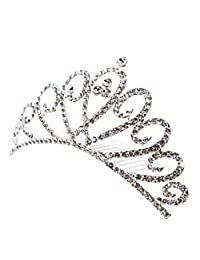 Dovewill Vintage Crystal Crown Tiara Bridal Headpiece Wedding Hair Accessories