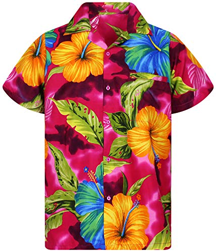 Funky Hawaiian Shirt, BigFlower, pink, 3XL