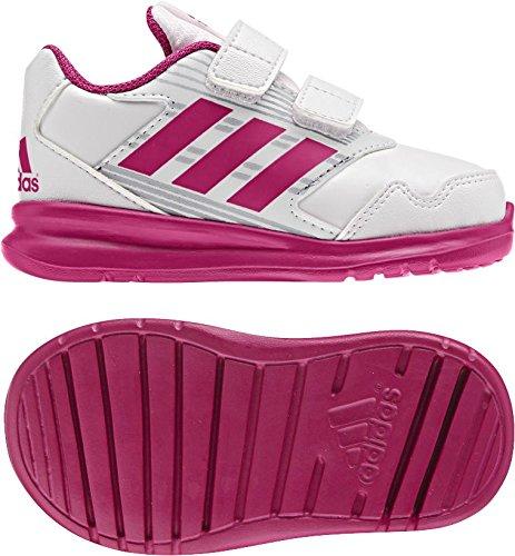 adidas AltaRun CF I - Zapatillas de deportepara niños, Blanco - (FTWBLA/ROSFUE/GRIMED), -25