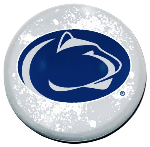 "NCAA Penn State Nittany Lions mascot in 2"" crystal magnetized paperweight with Colored Window Gift Box"