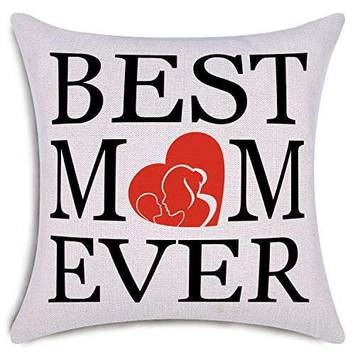 Best Mom Ever Pillow - Best Mom Ever Decorative Throw Pillow