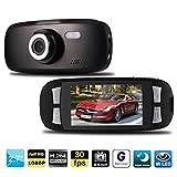 Car Dash Cam Recorder, Kingfansion Brand Capacitor G1W-C Car Dash Camera DVR NT96650 Chip TKD200H Lens