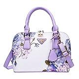 (US) Softmusic Lady Women Top-Handle Bags Shoulder Bag Purses Handbags Cross Body Bag size 24cm x18cmx 11cm (Purple)