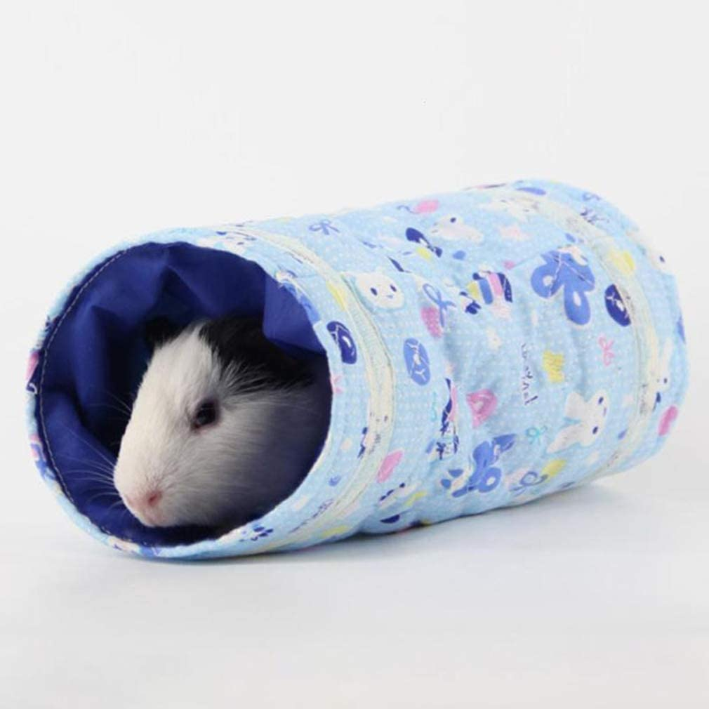 LALANG Small Animal Play Tunnel Rats Chinchillas Guinea Pig Collapsible Pet Toy Tunnel for Hamster Mice