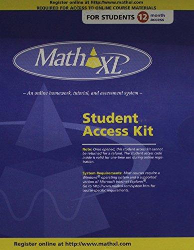 Mathxl Online Student VPK- 12 Months