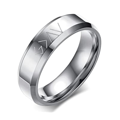 VNOX Christian Stainless Steel God is Greater Than The Highs and Lows Rings for Men Women,Size 7-12