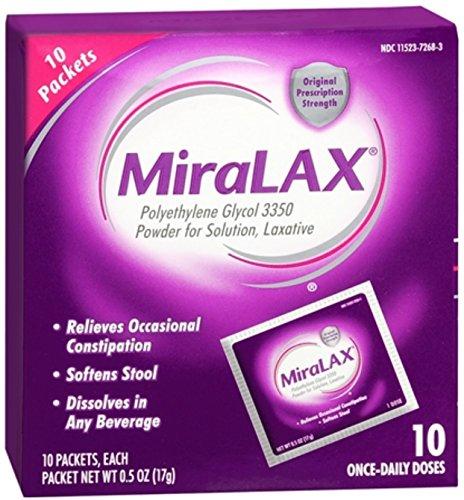 Miralax Single Dose Sache Size 10ct by Miralax