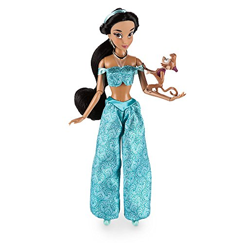 Disney Jasmine Classic Doll with Abu Figure - 12 Inch