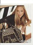 --Magazine PRINT AD-- With Carmen Kass For Michael Kors Logo Bags --PRINT AD--