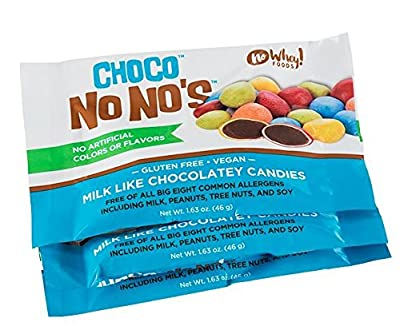 Chocolate ChocoNoNos (3 Pack) Naturally Colored, Vegan, Milk Free, Nut Free Chocolate Candy from Premium Chocolatiers LLC