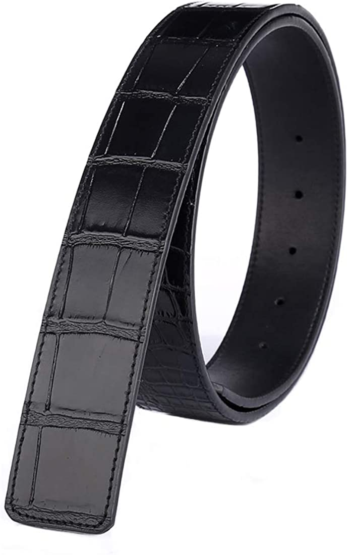 38mm Vatees Replacement Mens Belt Strap Without Buckle Top Grain Genuine Leather 1.5 Wide Adjustable