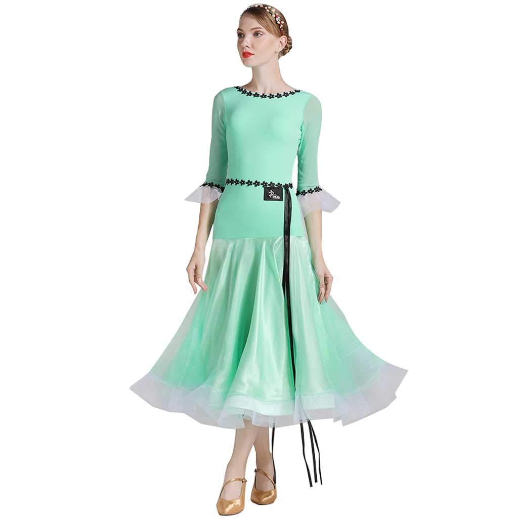 早割クーポン! モダンダンスドレス Green、ドレス女性ナイロン服 B07H4JNV5C Mint M|Mint Green Green Mint Green M, 磯谷郡:b5ba36ea --- digitalmantraacademy.com