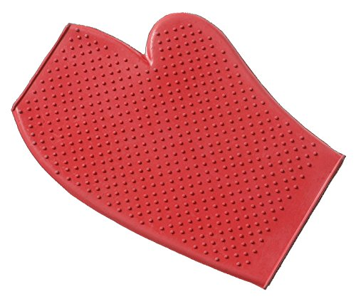 - Tough 1 Rubber Grooming Gloves, Red