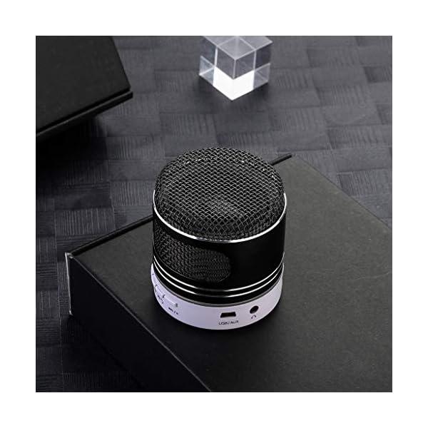 zycShangMini Bluetooth Président LED USB Lumière sans Fil Portable Boîte à Musique Subwoofer (Noir) 3