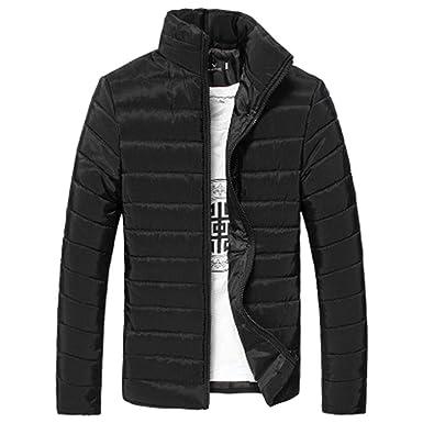 sélectionner pour authentique 100% d'origine variété de dessins et de couleurs Evokems Manteau d'hiver à Manches Longues pour Hommes avec col Montant  Manteaux