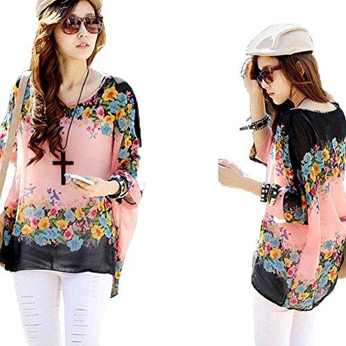 Shirt Top Jltph Hippie Del Chiffon Color33 Batwing Spiaggia Delle Donne Tunica Camicetta vw7frEqA7z
