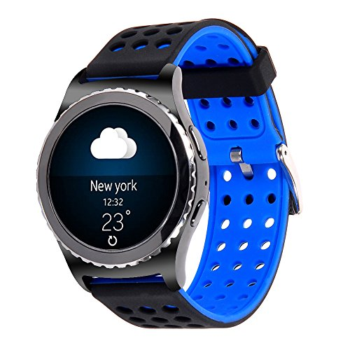Price comparison product image 20mm Gear S2 Classic Smart Fitness Watch Band (SM-R732),Silicone Replacement for Samsung Galaxy Gear S2 Classic (Only for Classic Version)(Silincone band-03)