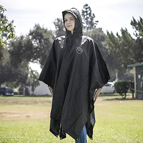SUNGJAM Rain Poncho with Travel Pouch | Two Over Door Metal Hooks for Drying by SUNGJAM (Image #3)