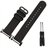 Suunto Core Watch band ,Mchoice Nylon Watch Band Strap 3 Ring Lugs With Adapters For Suunto Watch (Black)