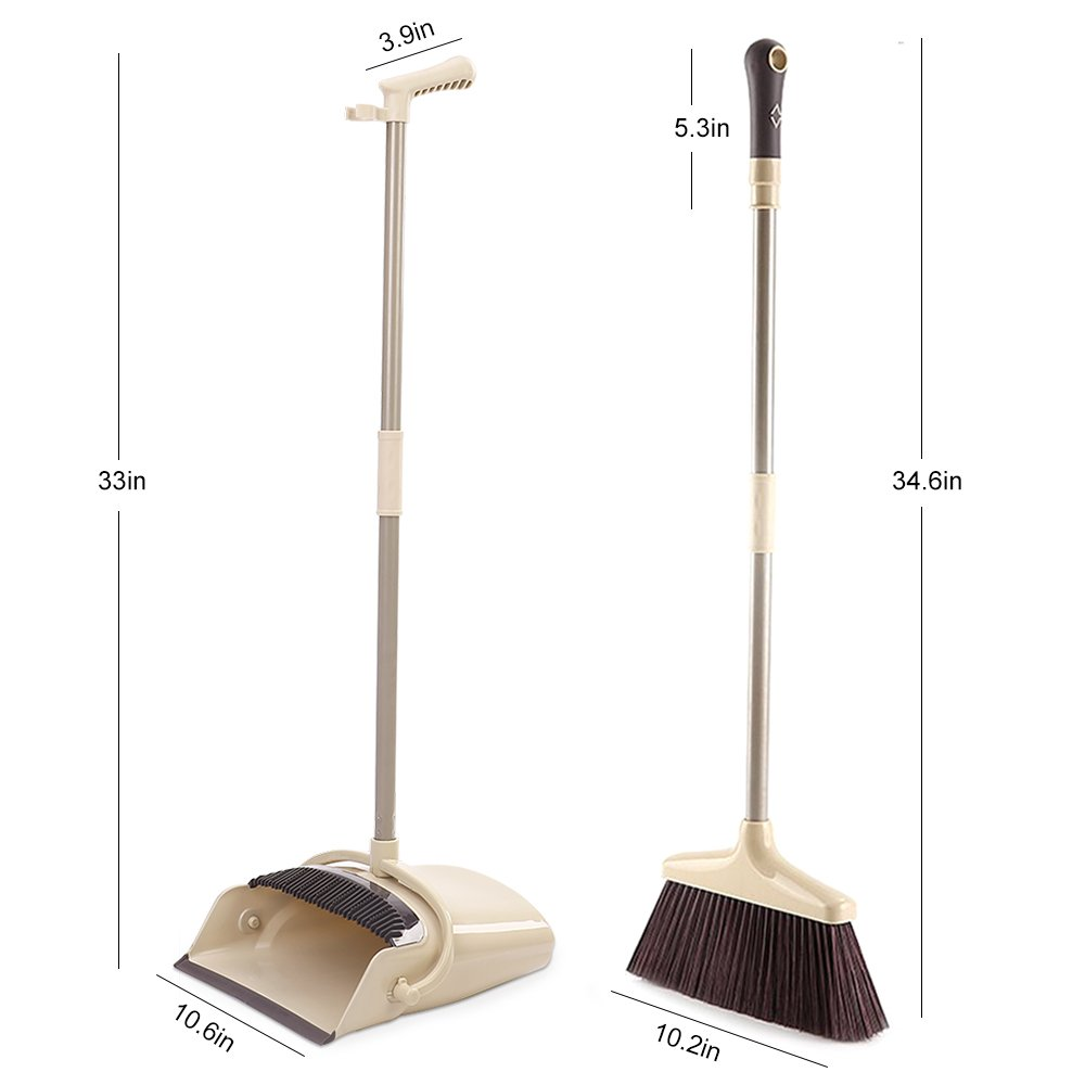SANGFOR Broom and Dustpan Set Long Handle Dustpan and Lobby Broom Combo Upright Grips Sweep Set with Broom by SANGFOR (Image #2)