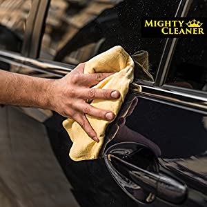 Absorber Shammy Cloth Chamois Towel - Car Towel - Synthetic Chamois Leather Towel For Home - Car Cleaning Cloth - PVA Towel - Car Drying Towel - Best Shammy Cloth - Car Wash Cloth = Mighty Cleaner