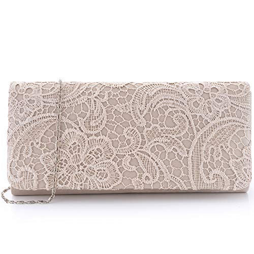 Womens Lace Wedding Evening Womens Bag Evening Clutch Party Bag Shoulder SnnCv6d4