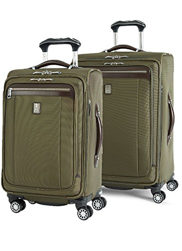 Travelpro Platinum Magna 2 2-Piece Express Spinner Suiter Luggage Set: 25'' and 21'' (Olive) by Travelpro