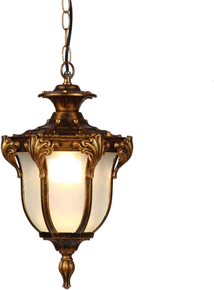 Lámpara colgante para exteriores IP44 Color bronce metal antiguo ...