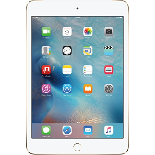 Apple iPad mini 4 (64GB) Wi-Fi + 4G LTE Cellular (Factory UNLOCKED) - Gold