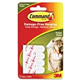 Wholesale CASE of 25 - 3M Removable Command Adhesive Poster Strips-Command Adhesive Poster Strips, Removable, 12/PK
