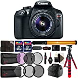 Canon EOS Rebel T6 Digital SLR with 18-55mm IS II Lens , LED Tube Light and Accessory Kit