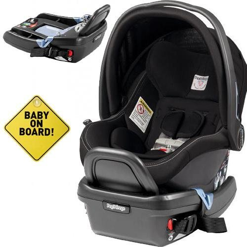 peg perego primo viaggio 4 35 car seat w extra base and baby on board sign onyx buy online. Black Bedroom Furniture Sets. Home Design Ideas