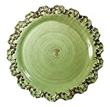 Intrada BAR7459G Baroque Charger Plate, Green