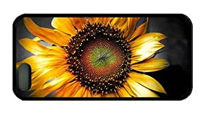 Hipster iphone 4s silicone cases SUnflower Art TPU Black for Apple iPhone 4s