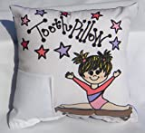 Bunnies and Bows Gymnastic Tooth Fairy Pillow with Tooth Fairy Dust