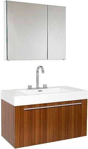 Fresca Bath FVN8090TK Vista Vanity