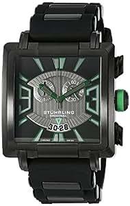 Stuhrling Original Men's 278A.335671 Classic Metropolis Il Capo Chronograph Swiss Quartz Date Black Watch