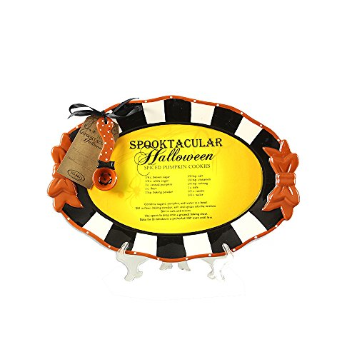 Youngs Halloween Recipe Platter with Spoon -