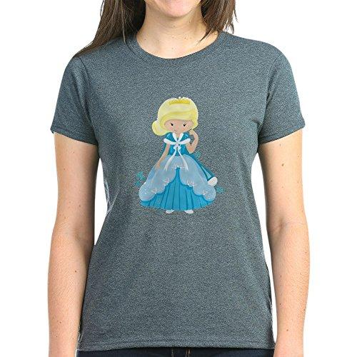 Royal Lion Women's Dark T-Shirt Ice Princess Snowflake - Charcoal Heather, XL