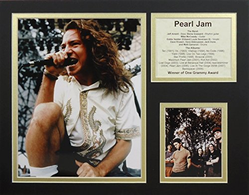 "Pearl Jam 11"" X 14"" Unframed Matted Photo Collage By Legends Never Die, Inc."