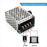 PWM DC Motor Speed Controller 9V 12V 24V 36V 48V DC 9V - 55V Pulse Width Modulation Regulator 40A 2000W Stepless Variable Speed/Forward and Reverse Switch Pulse Width Modulation DC Speed Regulation